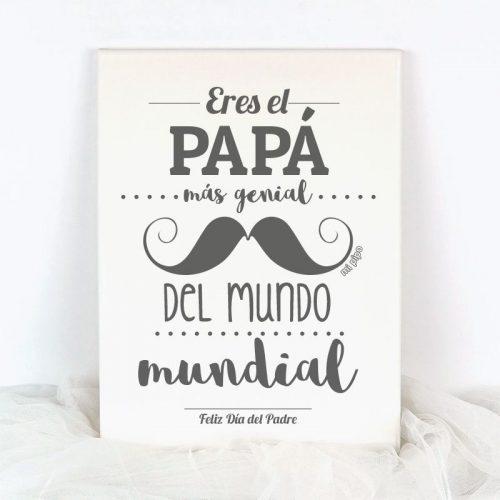 lienzo eres el papa mas genial del mundo mundial