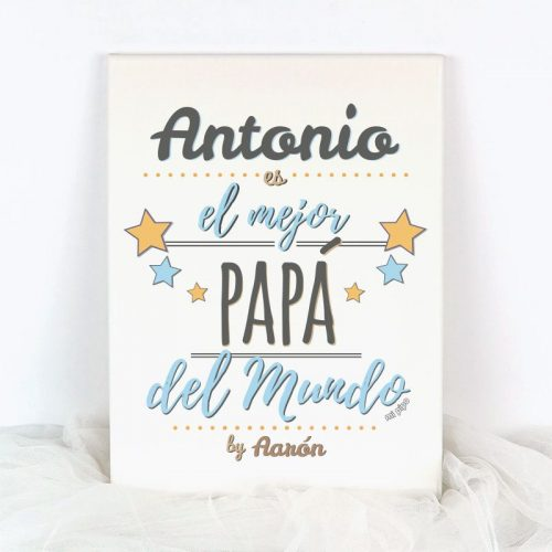 lienzo personalizado nombre es el mejor papa del mundo by nombre ninoa